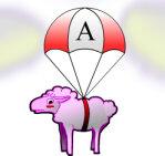 Moutons parachutiste